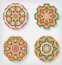 circles kaleidoscopes vector image vector image