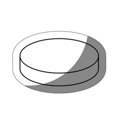 circular object icon vector image