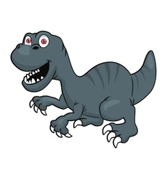 Cute velociraptor or raptor dinosaur vector