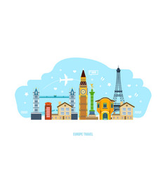 Discover sights culture traditions atmosphere vector