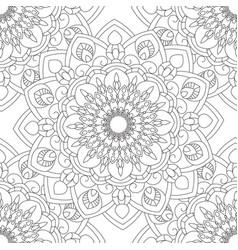 Doodles mandala seamless pattern vector