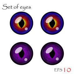 Eyes collection vector