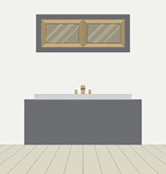 Flat Design Bathtub In Bathroom vector image