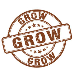 grow brown grunge stamp vector image vector image