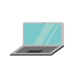 laptop computer technology isolated icon vector image vector image