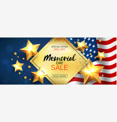 memorial day sale promotion advertising horizontal vector image vector image