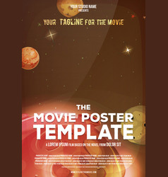 Movie poster template vector