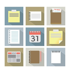 Office Document Icons vector image
