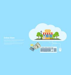 Online store banner vector