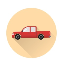 Pickup truck icon vector image vector image