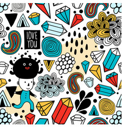 Seamless background with abstract design elements vector