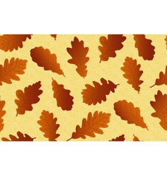 Seamless background with oak leaves vector image vector image