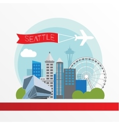 Seattle detailed silhouette vector image