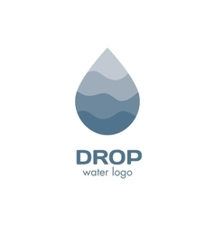 Isolated abstract blue color waterdrop logo vector image