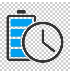 Battery time icon vector
