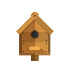 Wooden nesting box icon vector