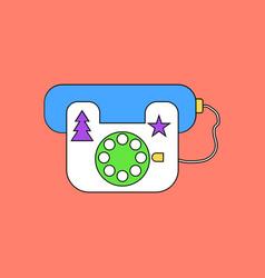 flat icon design collection landline phone vector image