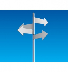 Crossroad sign vector