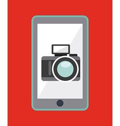 camera app design vector image