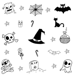 Halloween scary doodle vector