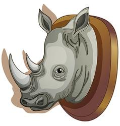 A head of a rhino vector