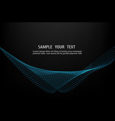 Abstract smooth wave with dots vector