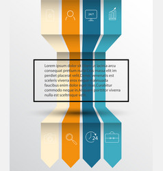 arrow infographic template options banner wit vector image