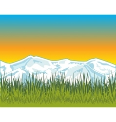 Beautiful dawning on nature vector
