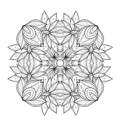 Beautiful Deco Monochrome Contour Square vector image vector image
