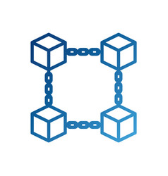 block chain business technology concept digital vector image