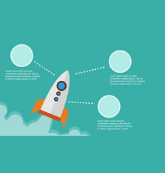 Business infographic with rocket style background vector