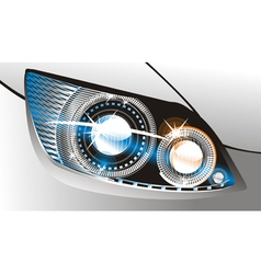 Car headlight vector image