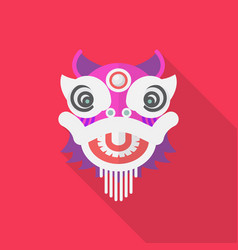 Chinese dancing dragon in flat style vector