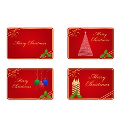 christmas greeting cards vector image