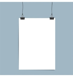 Collection of white papers ready for your message vector image