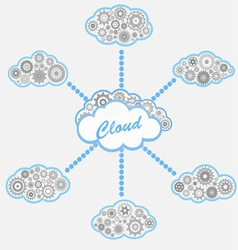 computer cloud service vector image vector image
