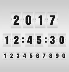 Countdown timer and mechanical scoreboard with vector