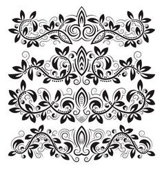design ornamental elements and vintage headline vector image