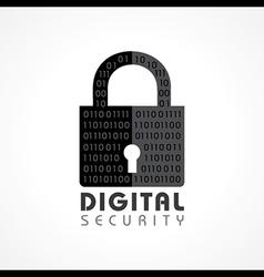 Digital security concept vector