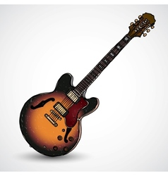 Doodle style electric guitar in format vector