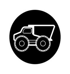 Dump truck icons vector