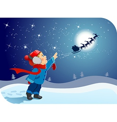 Farewell to Santa vector image