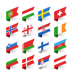 Flags of the world europe set 2 vector