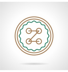 Flat icon for sewing button vector image