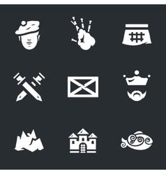 Icons Set of Scotland vector image