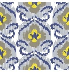 Ikat ogee seamless pattern vector