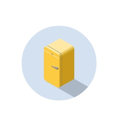 isometric of yellow fridge 3d flat refrigerator vector image vector image