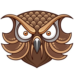 Owl head vector