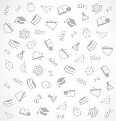 pattern from school elements on white background vector image vector image
