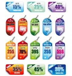 promotional tags vector image